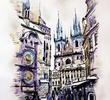 Old Town Square in Prague by MelannieD
