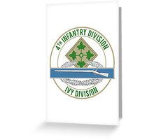 4th Infantry CIB Greeting Card