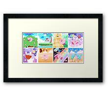 Kirby's Adventure - All 8 Levels Framed Print