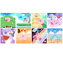 Kirby's Adventure - All 8 Levels Photographic Print