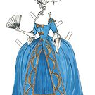Marie Antoinette style Paper doll by EmClarke979