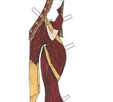Indian Bride Paper Doll by EmClarke979