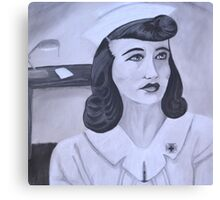 WWII Nurse Canvas Print