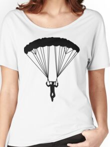skydiver silhouette Women's Relaxed Fit T-Shirt