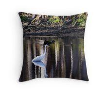 Manatee Springs Bird Throw Pillow