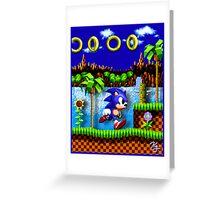 Sonic Hedgehog, Gotta Go Fast! Greeting Card