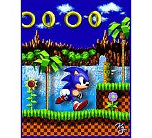 Sonic Hedgehog, Gotta Go Fast! Photographic Print