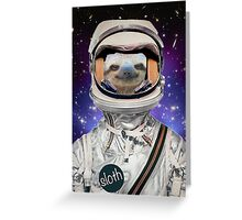 The Sloth Space Programme Greeting Card