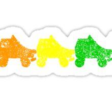 rainbow skates Sticker