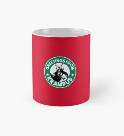 Greetings From Krampus - Coffee Cup Design with the Christmas Devil  Mug