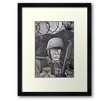 WWII Soldier Framed Print
