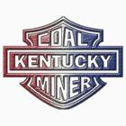 KENTUCKY COAL MINER red white blue by Tony  Bazidlo