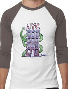 New York City  Men's Baseball ¾ T-Shirt