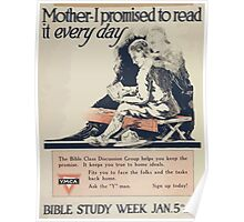 Mother I promised to read it every day YMCA Bible study week Jan 5th to 12th Poster