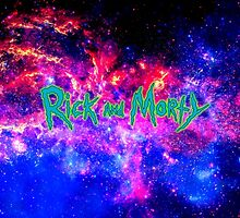 Rick and Morty against Galaxy by LightPopArt