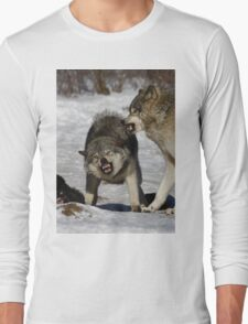 Back off! - Timber Wolf Long Sleeve T-Shirt