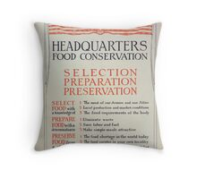 Headquarters food conservation Selection preparation preservation 002 Throw Pillow