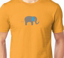 Cute Elephant with blue ears Unisex T-Shirt