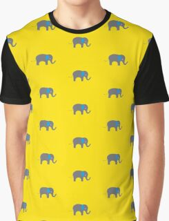 Cute Elephant with blue ears Graphic T-Shirt