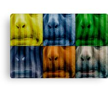 Warhol meets Vasarely II - Pig brother Canvas Print