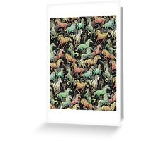 Ninjas+Unicorns Greeting Card