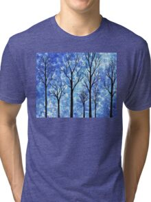 Winter In The Forest Abstract Tri-blend T-Shirt