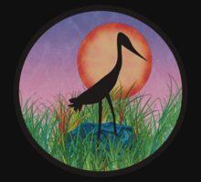 Sunset Bird One Piece - Short Sleeve