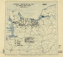 July 26 1944 World War II Twelfth Army Group Situation Map by allhistory