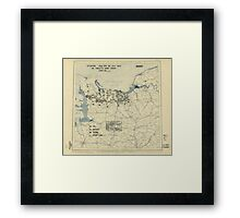 July 26 1944 World War II Twelfth Army Group Situation Map Framed Print