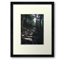 The way to King Mountain Framed Print