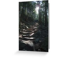 The way to King Mountain Greeting Card