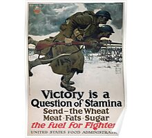 Victory is a question of stamina Send the wheat meat fats sugar The fuel for fighters United States Food Administration 003 Poster