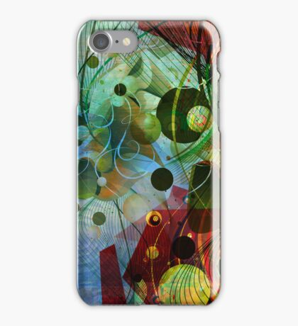 Digital Abstract Art-Dynamic Shapes And Lines iPhone Case/Skin