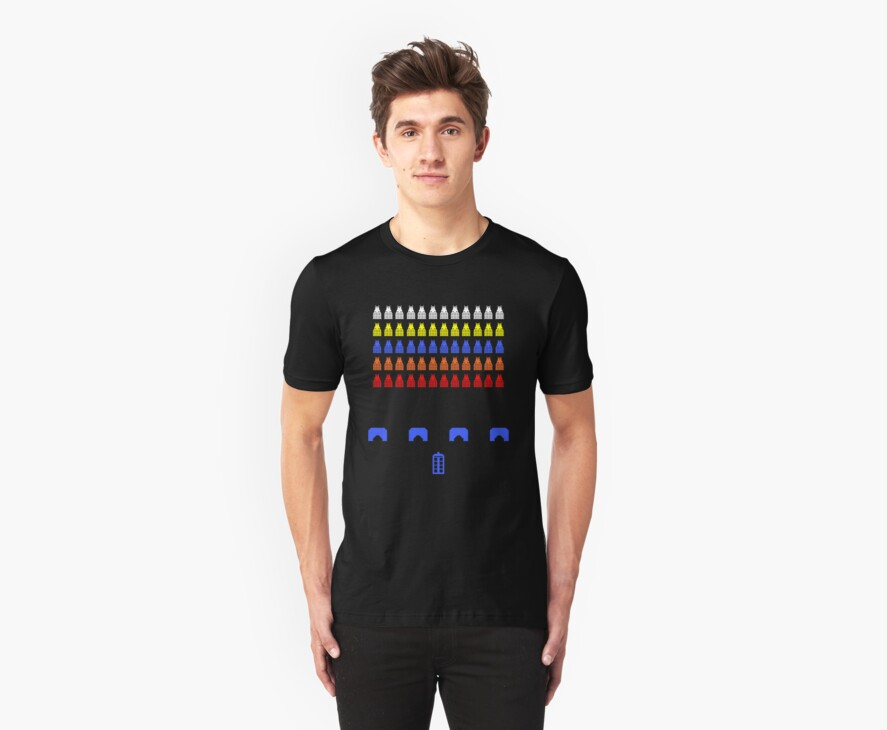 Time and Space Invaders by Dellibird