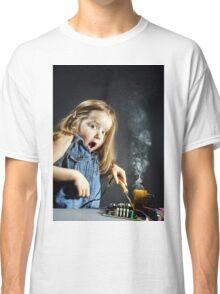 Cute little girl repair electronics by cooper-bit Classic T-Shirt