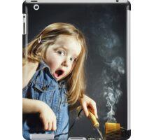Cute little girl repair electronics by cooper-bit iPad Case/Skin
