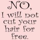 No, I wont cut your hair for free by stuwdamdorp