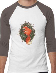 Fox in the Brush Men's Baseball ¾ T-Shirt