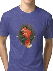 Fox in the Brush Tri-blend T-Shirt