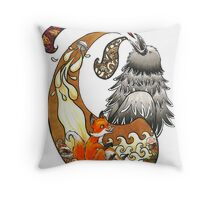 The Fox, the Crow, and the Cookie Throw Pillow