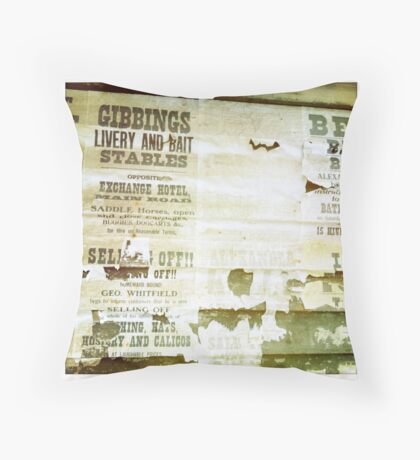 Sovereign Hill Posters Throw Pillow