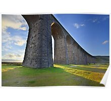 Yorkshire: Evening Light at Ribblehead Poster