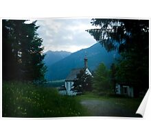 Little chapel in the mountains  Poster