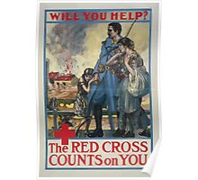 Will you help The Red Cross counts on you 002 Poster