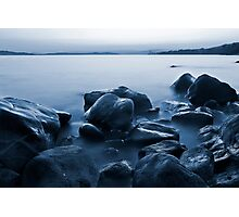 By the rocky shore Photographic Print