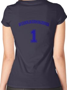 He Was #1 Women's Fitted Scoop T-Shirt
