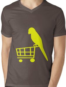 Parrot shopper Mens V-Neck T-Shirt