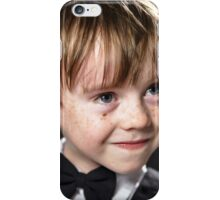 Freckled red-hair boy playing violin. Young musician. iPhone Case/Skin