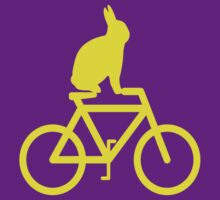 Hop On...Rabbit on a bike by PerkyBeans