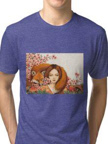 Red Fox Totem. Tri-blend T-Shirt